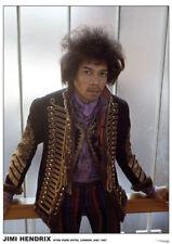 "Jimi Hendrix in London 1968 Color Poster 34"" X 24"""