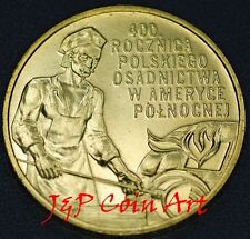 2008 Coin of Poland 2zl  Polish Settlement in North America