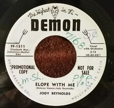 "Jody Reynolds Demon 1511 ""ELOPE WITH ME / CLOSIN' IN"" (GREAT R&R) RARE PROMO"