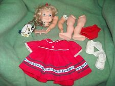 vintage Gabbigale 1972 pull string battery compartment legs arms head parts doll