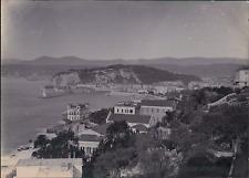 France, Nice, Vue panoramique sur le Port  Vintage citrate print Tirage citr