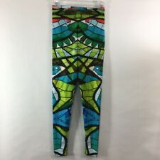 BlackMilk Stained Glass Lorikeet Leggings Womens size Medium Bird Vibrant Pants