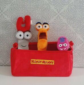 Disney Store Handy Manny - Plush soft toy Handy Manny DISNEY STORE toolbox plush
