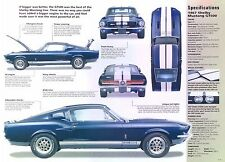 1967 Ford Mustang Shelby Fastback GT500 428 ci 355 hp IMP info/Specs/photo 11x8