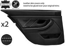 White Stitch Arrière 2X complet porte carte en cuir couvre Fits BMW 5 Series E39 95-03