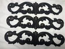 Set Of 3 Wrought Iron Screw In Wall Decor Swirl Design Heavy