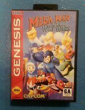 Sega Genesis MEGAMAN der gerissenen Kriege, Spiel, Box, manual. Professional Label