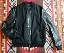Valentino Leather And Wool-blend Bomber Jacket