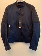 Hugo Boss Men's Olorth Biker Jacket, Size S, Dark Blue, New With Tag's  RRP £249