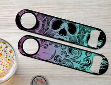Floral Skulls Personalized Bartenders Bar Blades Customized Speed Bottle Openers