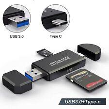 Lector de tarjetas micro sd android y tipo C usb 3.0 adaptador tarjetas OTG