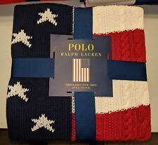 Ralph Lauren American Flag *Thick & Heavy*Throw Blanket