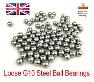 "Ball Bearings 1/4"" 7/32"" 3/16"" 5/32"" Loose Bike Hubs Cones Machinery G10"