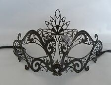 Black Filigree Metal Venetian Masquerade Party Mask No.4 * New *