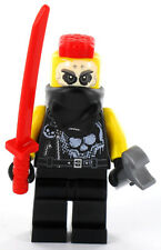 LEGO Ninjago Minifigur Chopper Maroon mit Waffen aus Set 70643, NEU