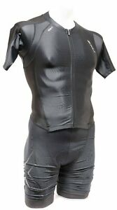 2XU ICE X Aero Short Sleeve Trisuit Men SMALL Black Triathlon Multisport Race