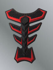 Protege reservoir 3D silicone ROUGE noir sticker Honda CBR CB1000R CB600 hornet