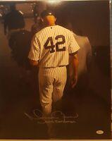 Mariano Rivera Signed New York Yankees 16x20 Photo Inscribed JSA-COA