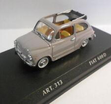 Véhicules miniatures gris pour Fiat 1:43