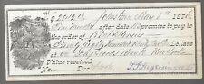 1876 Bank Draft Day Goods Bank of New York  $2842.13