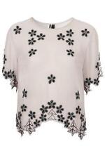 TopShop Women's Polyester Waist Length Short Sleeve Sleeve Tops & Shirts