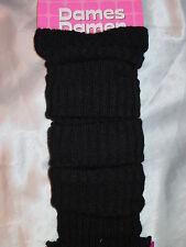 Damen Beinstulpen Legwarmer Farbe schwarz Stulpen Strickstulpen