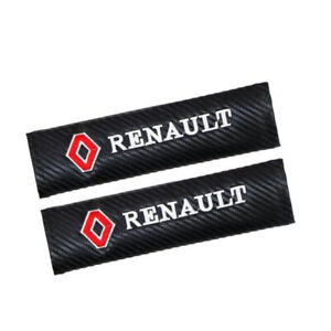 2pcs Carbon Fiber Car Belt SeatShoulder Pads Cover Cushion Soft for Renault