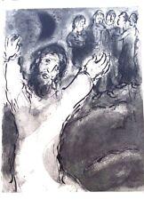 Marc Chagall offset lithograph Bible  paris maeght 1960 original 92 2 sided