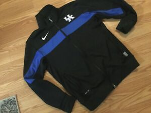 LADIES WOMEN'S SZ SMALL REG NIKE DRI-Fit UK KENTUCKY WILDCATS BLACK/BLUE JACKET