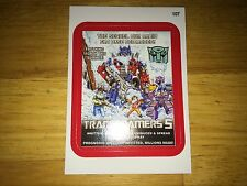 TOPPS WACKY PACKAGES 2015 RED BORDER STICKER TRANSFORMERS TRANSFOAMERS 5 107 BOT
