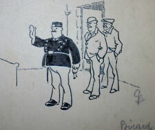 Gino BALDO (1884-1961) DESSIN de PRESSE ORIGINAL PARU 1915 BICARD dit le BOUIF 3