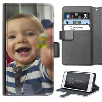 HAIRYWORM SALE NEW PERSONALIZED PHOTO LEATHER PHONE CASE, WALLET FLIP CASE