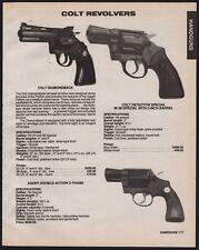 1986 COLT Diamondback, Detective Special, Agent DA D Frame Revolver AD
