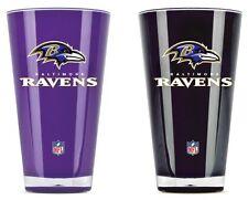 Baltimore Ravens Tumblers - Set of 2 20oz Glass [NEW] Tumbler Coffee Cup Mug