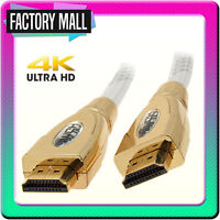 HDMI Cable Lead v2.0 4K 3D Gold Braided New 0.5m 1m 1.5m 2m 3m 5m 10m 15m -