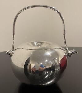 Dansk Vivianna Torun Bulow- Hube Silver Plate Teapot Mid Century Modern