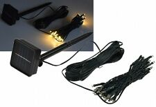 LED Solar-Lichterkette  5m warmweiß, grünes Kabel, IP44, 50 LEDs