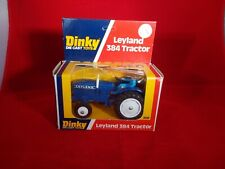 dinky leyland 384 tractor blue vintage boxed 1977