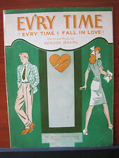 Ev'ry Time (I Fall in Love) Jenkins -1944 sheet music -Vocal Guitar chords Piano