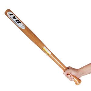 Solid Wood Wooden Baseball Bat 25 29 32 Inch Rounders Softball Adult Kids Bats