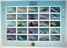 SHIP STAMPS SHEET 1996 MNH MARSHALL ISLANDS MILLENNIUM OF NAVIGATION SHIPS OCEAN
