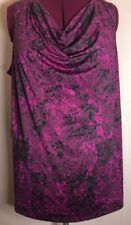 "Unbranded 4x(3X?)58""Bust Purple Paisley Tank Camisole Women Blouse Top Shirt Y13"