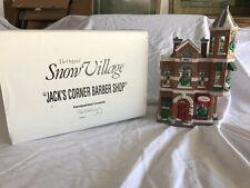 Dept 56 Jacks Corner Barber Shop Original Snow Village 5406-2 Retired 1994