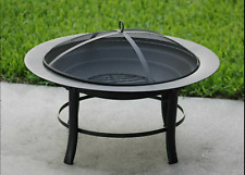 """Mainstays 28"""" Fire Pit with Pvc Cover and Spark Guard Come with cover"""