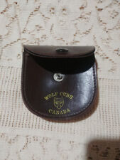WOLF CUBS CANADA ORIGINAL LEATHER POUCH BROWN VG CONDITION