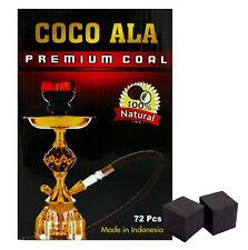 Coco Ala Hookah Charcoal Square Coals Natural Coconut Coco Shisha Nara 72 pcs