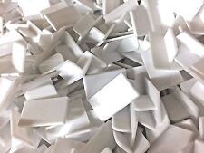 Set of 50 Blank White Price Carriers for Jewellery Display 22mm x 13mm