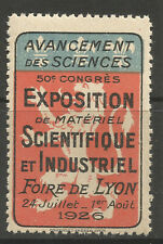 France/Lyon 1926 Scientific & Industrial Equipment Exhibition poster stamp/label
