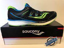 Saucony Men's Triumph ISO 4 Running Shoes - Size 14 Black/Slime/Blue