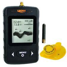 Wireless Portable Dot Matrix Fish Finder Sonar, Radio Audible fish & Depth Alarm